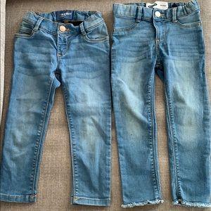 Toddler girls Old Navy ballerina skinny jeans 3T
